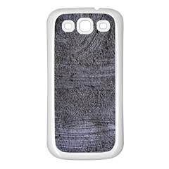 BLUE STUCCO TEXTURE Samsung Galaxy S3 Back Case (White)