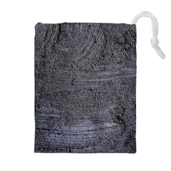 Blue Stucco Texture Drawstring Pouches (extra Large)