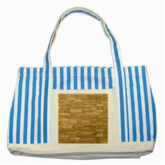 Block Wall 2 Striped Blue Tote Bag
