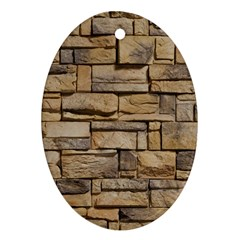 BLOCK WALL 1 Oval Ornament (Two Sides)