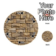 Block Wall 1 Playing Cards 54 (round)