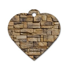 BLOCK WALL 1 Dog Tag Heart (Two Sides)
