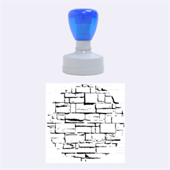 BLOCK WALL 1 Rubber Round Stamps (Medium)
