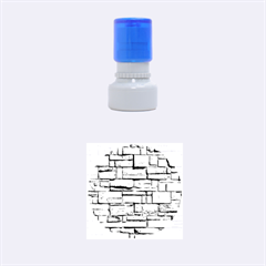 BLOCK WALL 1 Rubber Round Stamps (Small)
