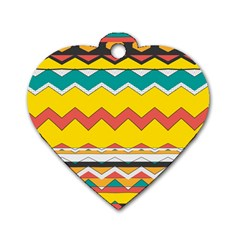 Zig zag Dog Tag Heart (Two Sides)