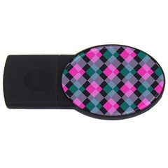 Argyle variation USB Flash Drive Oval (2 GB)