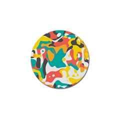 Cubist art Golf Ball Marker