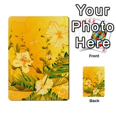 Wonderful Soft Yellow Flowers With Dragonflies Multi Purpose Cards (rectangle)