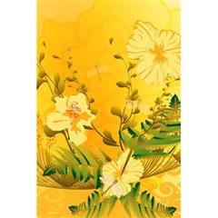 Wonderful Soft Yellow Flowers With Dragonflies 5.5  x 8.5  Notebooks