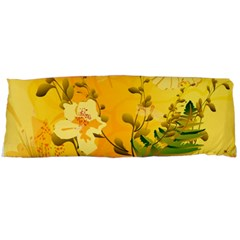 Wonderful Soft Yellow Flowers With Dragonflies Body Pillow Cases Dakimakura (Two Sides)