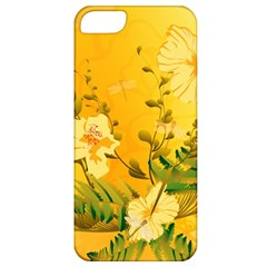 Wonderful Soft Yellow Flowers With Dragonflies Apple iPhone 5 Classic Hardshell Case