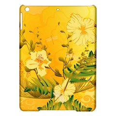 Wonderful Soft Yellow Flowers With Dragonflies iPad Air Hardshell Cases