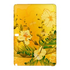 Wonderful Soft Yellow Flowers With Dragonflies Samsung Galaxy Tab Pro 12 2 Hardshell Case