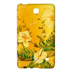 Wonderful Soft Yellow Flowers With Dragonflies Samsung Galaxy Tab 4 (7 ) Hardshell Case