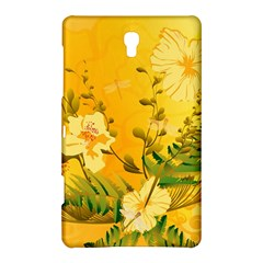 Wonderful Soft Yellow Flowers With Dragonflies Samsung Galaxy Tab S (8 4 ) Hardshell Case