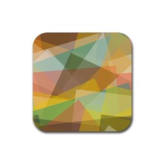 Fading shapes Rubber Square Coaster (4 pack)
