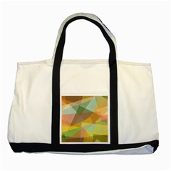 Fading shapes Two Tone Tote Bag