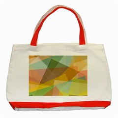 Fading shapes Classic Tote Bag (Red)