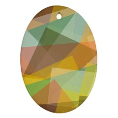 Fading shapes Oval Ornament (Two Sides)