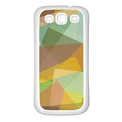 Fading shapes Samsung Galaxy S3 Back Case (White)