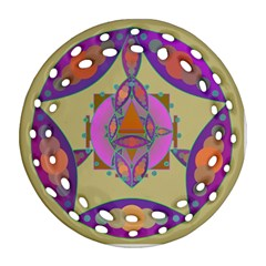 Mandala Round Filigree Ornament (2side)