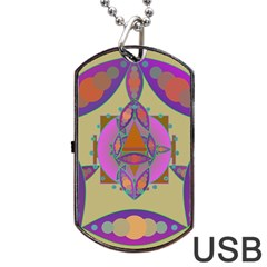 Mandala Dog Tag Usb Flash (two Sides)