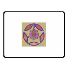 Mandala Double Sided Fleece Blanket (small)