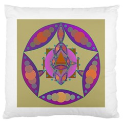 Mandala Large Flano Cushion Cases (one Side)