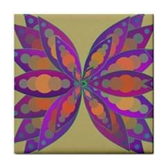 Fly-Mandala Tile Coasters
