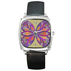 Fly Mandala Square Metal Watches