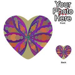 Fly Mandala Multi Purpose Cards (heart)