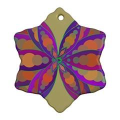 Fly-Mandala Snowflake Ornament (2-Side)