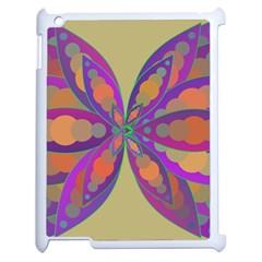 Fly-Mandala Apple iPad 2 Case (White)