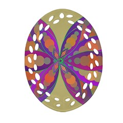 Fly Mandala Ornament (oval Filigree)
