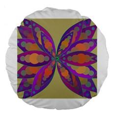 Fly-Mandala Large 18  Premium Flano Round Cushions