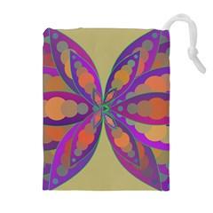 Fly Mandala Drawstring Pouches (extra Large)