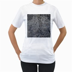 BLACK MICA Women s T-Shirt (White) (Two Sided)