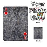 BLACK MICA Playing Cards 54 Designs  Front - Heart3