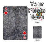 BLACK MICA Playing Cards 54 Designs  Front - Heart7