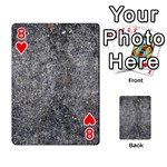 BLACK MICA Playing Cards 54 Designs  Front - Heart8