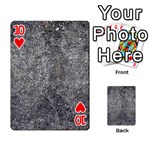 BLACK MICA Playing Cards 54 Designs  Front - Heart10