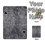 BLACK MICA Playing Cards 54 Designs  Front - Spade5