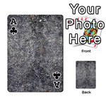 BLACK MICA Playing Cards 54 Designs  Front - ClubA