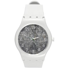 BLACK MICA Round Plastic Sport Watch (M)