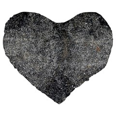 BLACK MICA Large 19  Premium Heart Shape Cushions