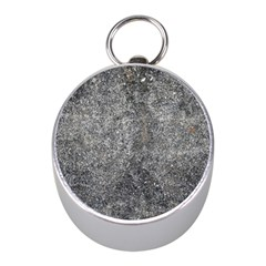 Black Mica Mini Silver Compasses