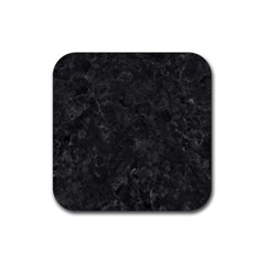 BLACK MARBLE Rubber Square Coaster (4 pack)
