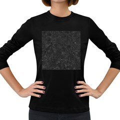 BLACK MARBLE Women s Long Sleeve Dark T-Shirts