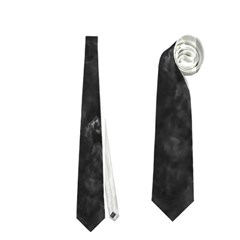 BLACK MARBLE Neckties (One Side)