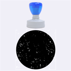 Black Marble Rubber Round Stamps (large)